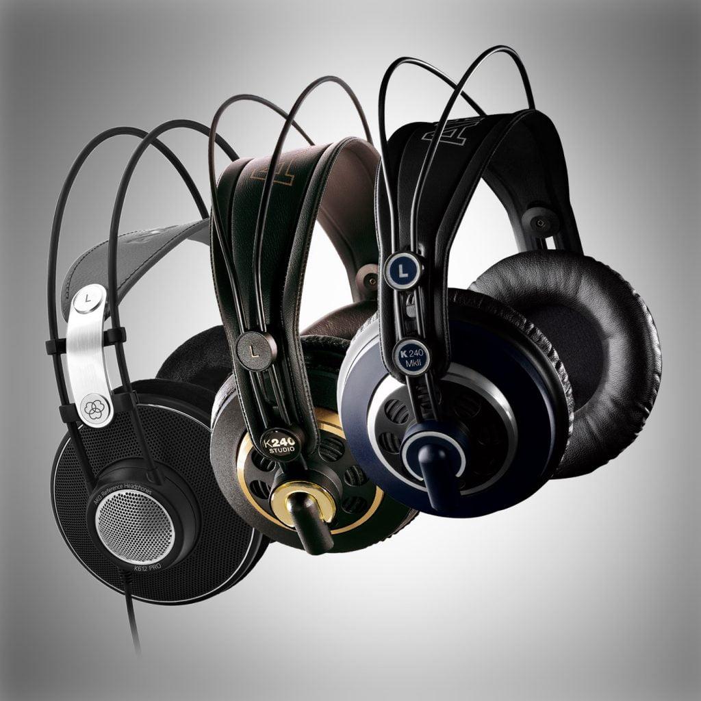 Audifonos para monitoreo en estudio de grabacion AKG K240